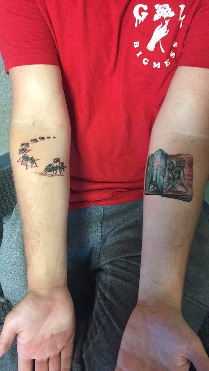 Got my first tattoos done yesterday by Andrew Gummer of The Salty Siren tattoo lounge