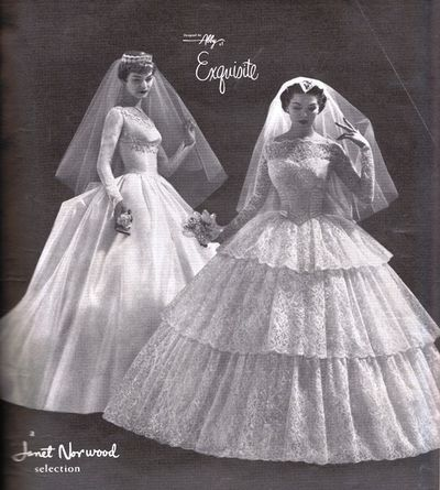 Vintage ad for wedding gowns