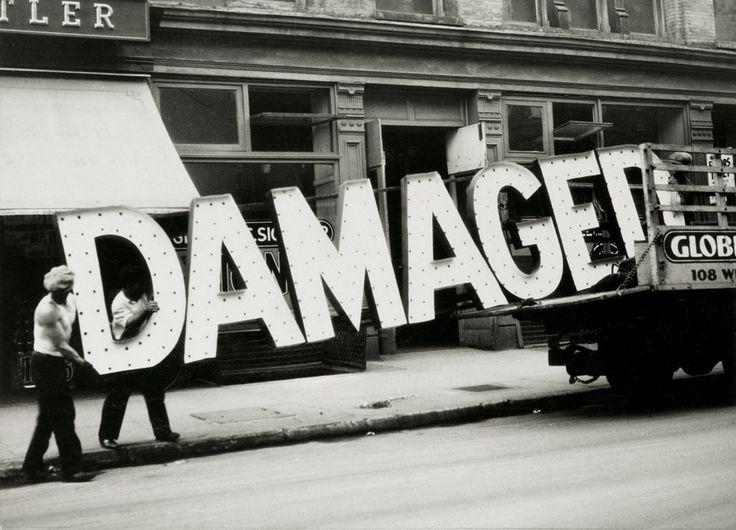 Damaged, New York City, 1928-30 by Walker Evans