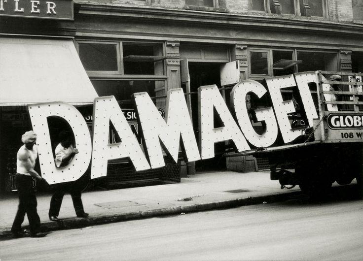 Damaged, New York City, 1928-30 by Walker Evans