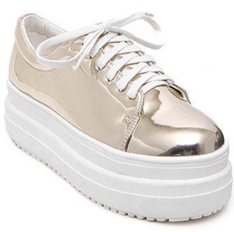 2016 новая весна туфли на платформе женщина свободного покроя кожа квартир женщин мода модные туфли женщин 4 цвет женская обувь купить на AliExpress