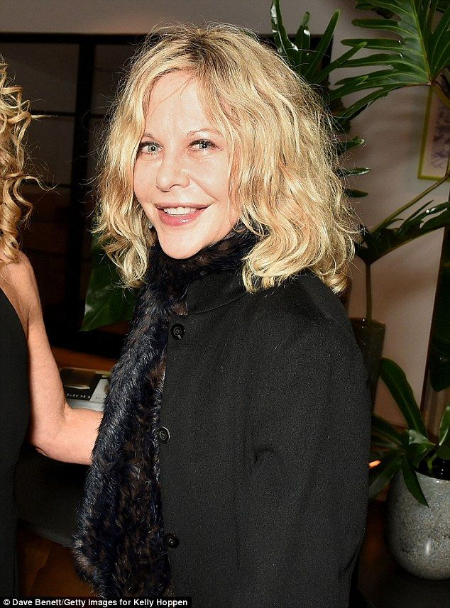 Frozen in time:Meg Ryan looked remarkably ageless on Wednesday night, as she turned out for Kelly Hoppen's anniversary party celebrating 40 years of her business