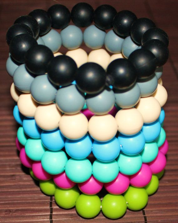 Silicone Teething Bracelet by TinyTeether on Etsy, $5.50