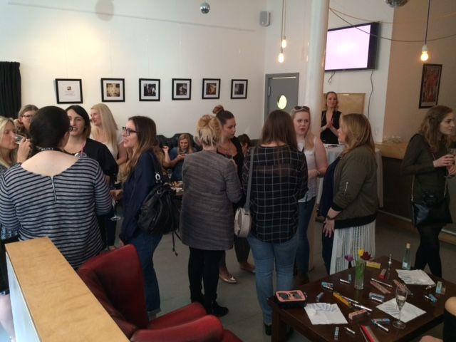 Leeds Bloggers mingle before we start the event...