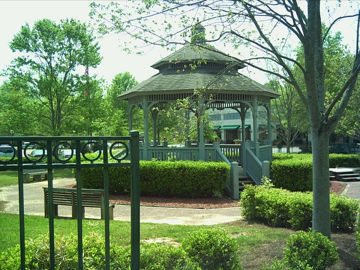 Fayetteville town square...this is where he proposed.