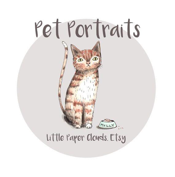 A4 Size Custom pet portrait watercolour by LittlePaperClouds