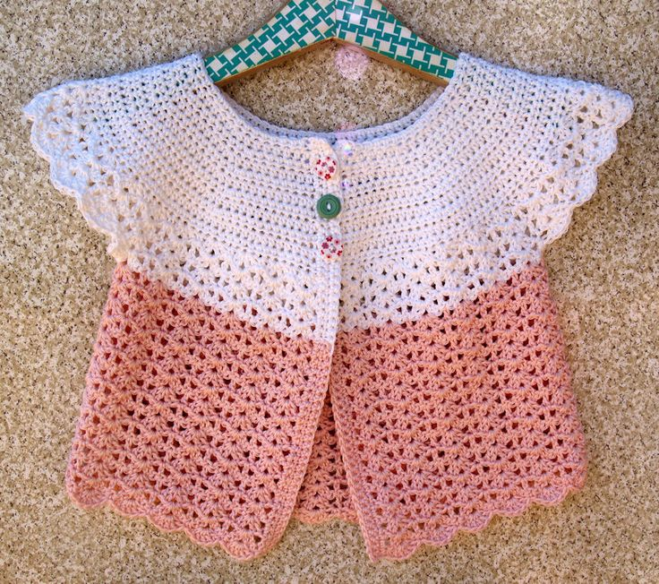 Ganchillo suéter de la muchacha Swing Cardigan por lesjardinsdevie