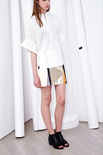 30 Graphic Ways To Kick The Winter Blues #refinery29  http://www.refinery29.com/resort-fashion#slide16  3.1 Phillip Lim  Clean lines in sherbet and classic black and white push Phillip Lim's line of staples for the working girl into weekend-ready territory.