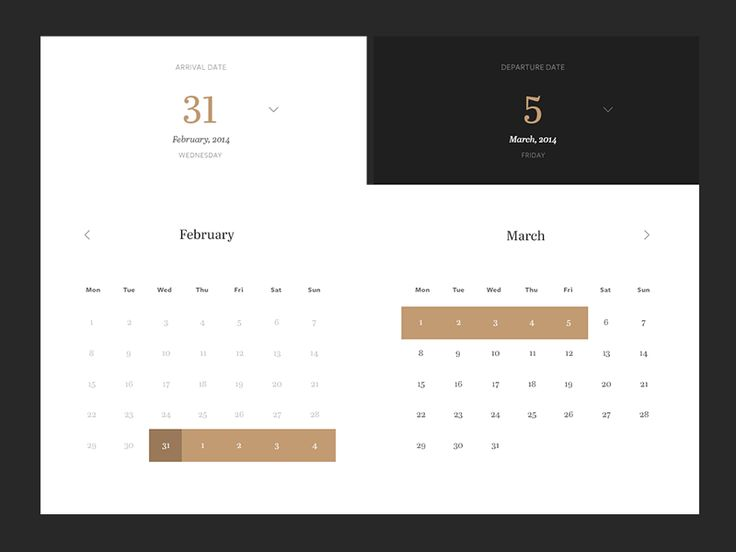 Calendar Design Inspiration — Muzli -Design Inspiration