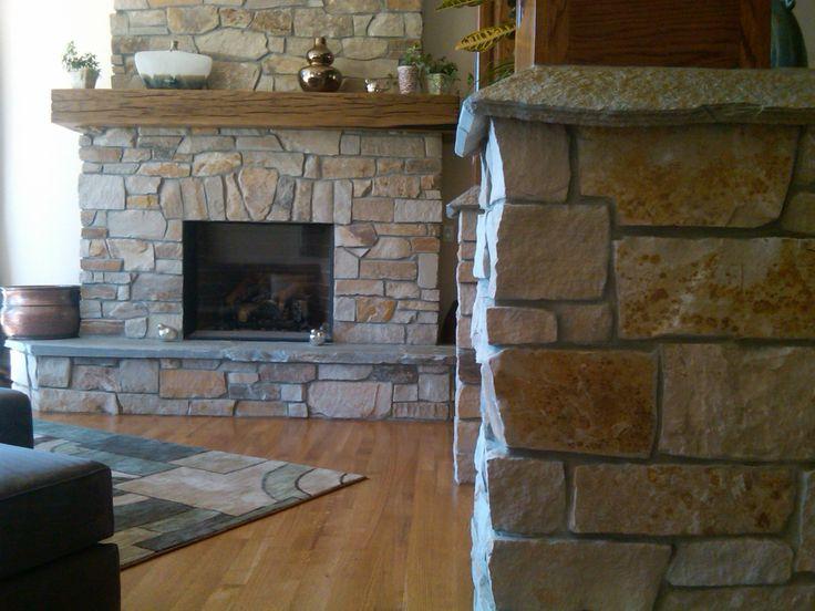 stone veneer fireplace natural stone thin veneer gallery nimasonrycom - Moderner Kamin Umgibt Kaminsimse