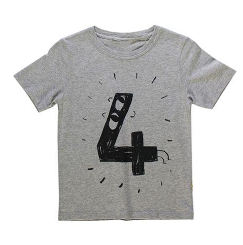 Birthday t-shirt | grijs