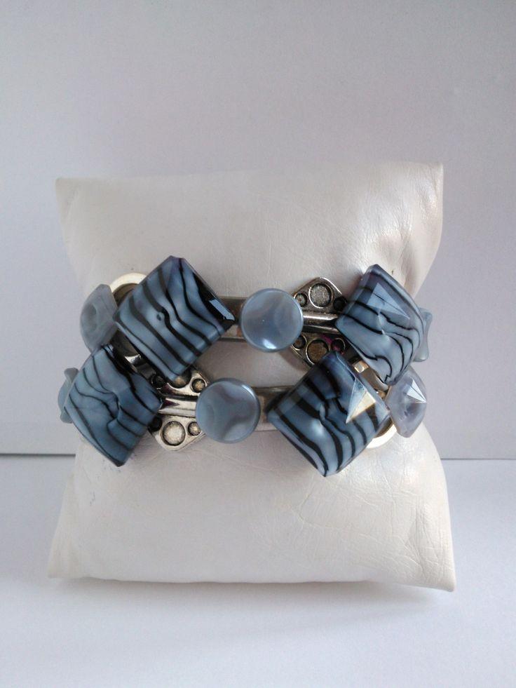 Nouveauté femme bracelet 2 rangs ,UNIQUE ET FAIT MAIN : Bracelet par les-creations-uniques-de-michel-nala