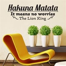 Wallsticker Hakuna Matata - NiceWall.dk