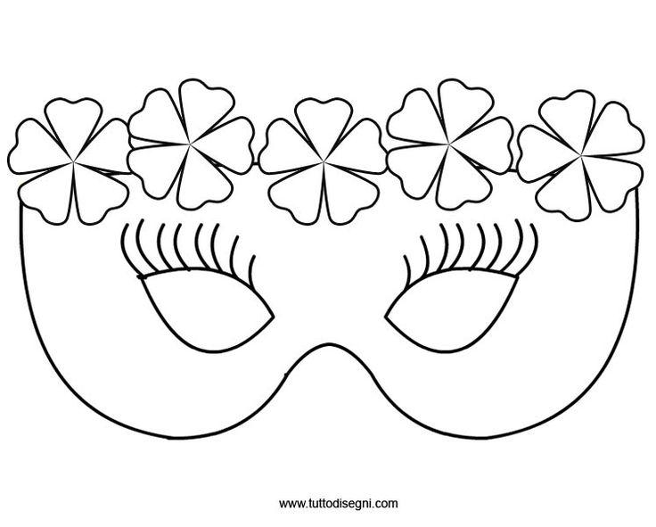 Maschera con i fiori da colorare - TuttoDisegni.com