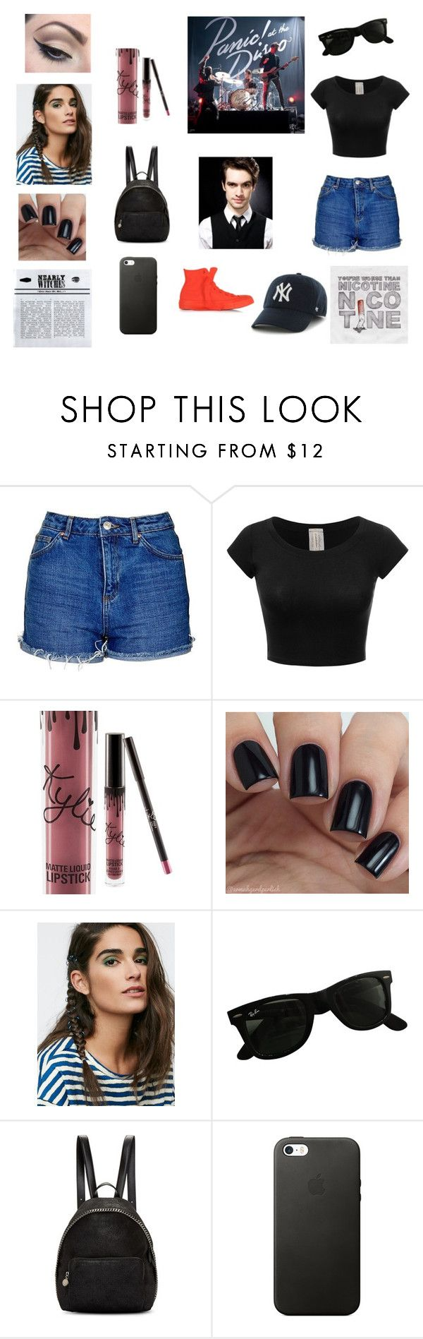 """""""Panic! At The Disco concert"""" by sarahbear231 on Polyvore featuring Topshop, Mehron, Aeon, Ray-Ban, STELLA McCARTNEY and Converse"""