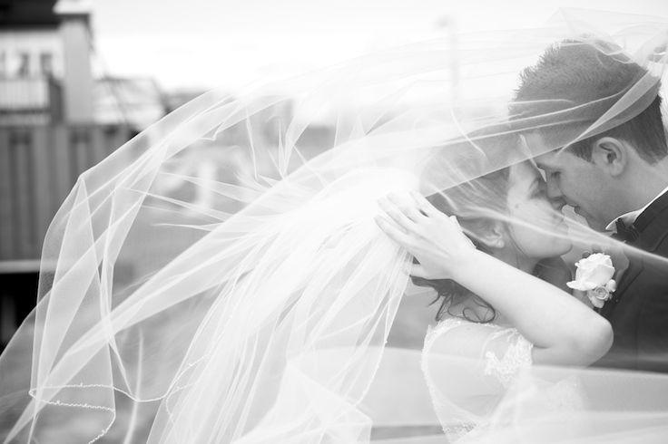 Naomi and Bobby, Melbourne Wedding, St Kilda Wedding. Veil Shot,