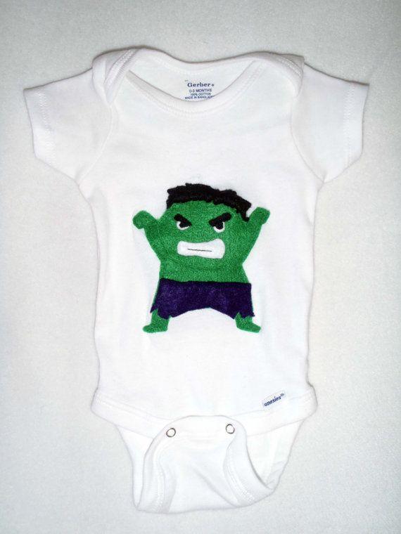 Baby Hulk Onesie Etsy 15 00 Kiddos Pinterest I