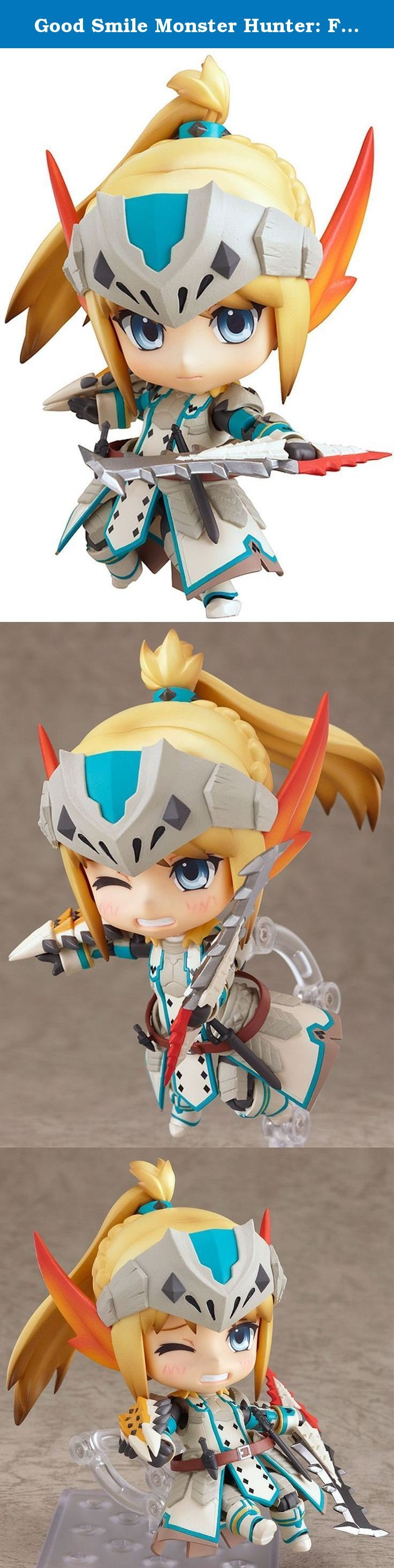 Good Smile Monster Hunter: Female Swordsman Nendoroid Action Figure Bario X Edition. From Good Smile Company. From the popular Nintendo 3DS game, 'Monster Hunter Tri G' comes a Nendoroid of the female swordsman wearing the 'Bario X' series of armor made from the powerful ice-fanged Barioth! The unique design of the armor as well as the one-handed sword she wields have all been faithfully sculpted down to Nendoroid size! The bottom of the coat is separated into different parts, allowing…