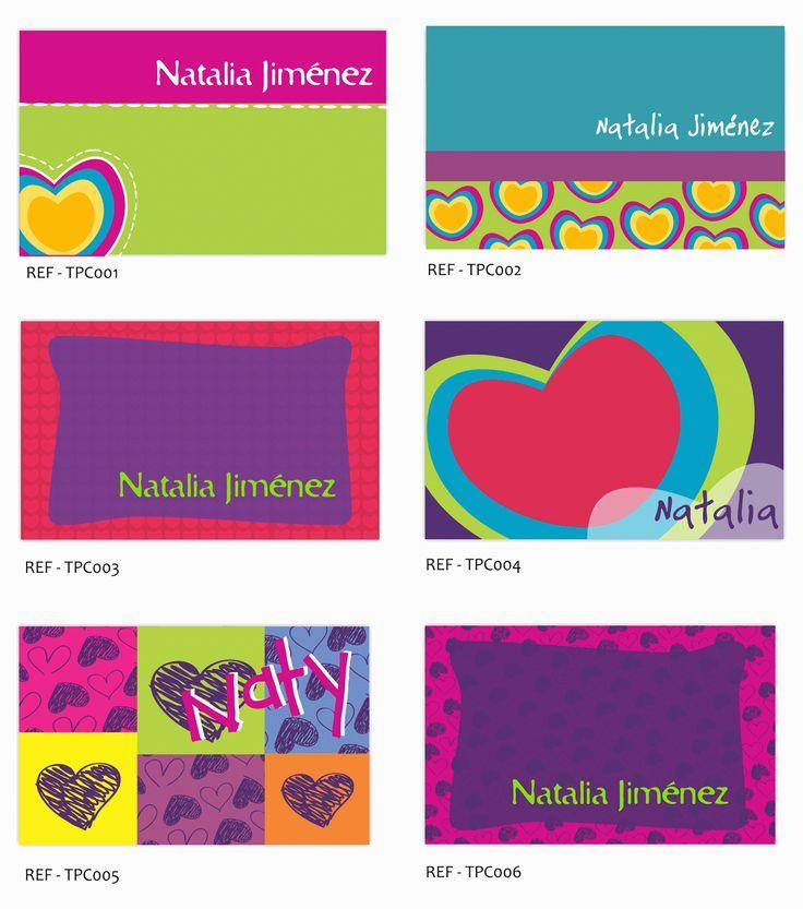 Tarjetas Infantiles y algo mas...: Tarjetas de Presentación Niñas/