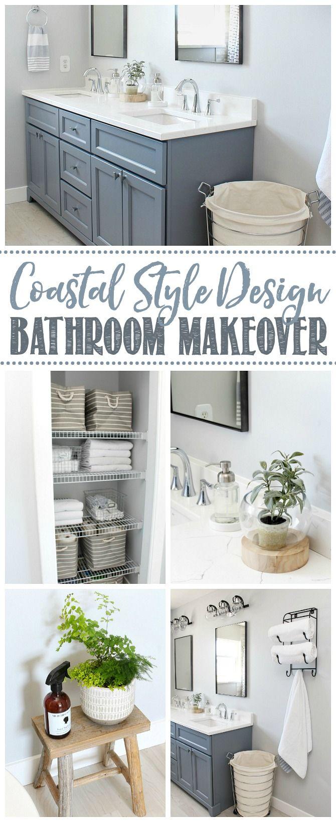 Coastal Style Bathroom Makeover | Coastal style bathroom ...