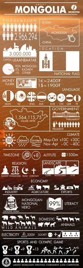 Mongolia by infograph
