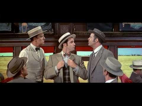 """Musicals: """"Rock Island"""" The Music Man (opening scene), Meredith Willson's """"The Music Man"""" Robert Preston & Shirley Jones 1962"""