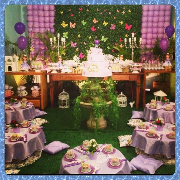 festa jardim da princesa : festa jardim da princesa:da Princesa Sofia #jardim#decoração#festas#infantil#chá#princesa