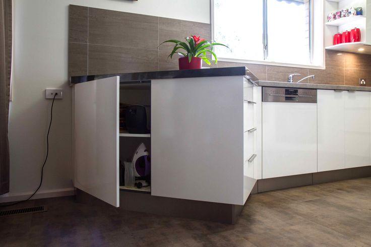 A compact, contemporary kitchen filled with storage! www.thekitchendesigncentre.com.au @thekitchen_designcentre