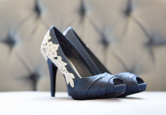 Wedding Shoes Navy Heels Blue Wedding Heels Navy by walkinonair
