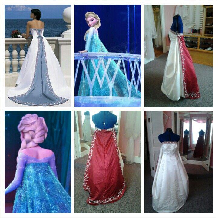 Elsa Frozen Inspired Wedding Dress Idea Disney Alfred Angelo Style 1516 In
