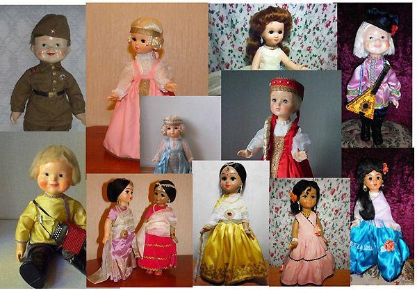 Фото винтажных советских кукол Ивановской фабрики цыганки индианки