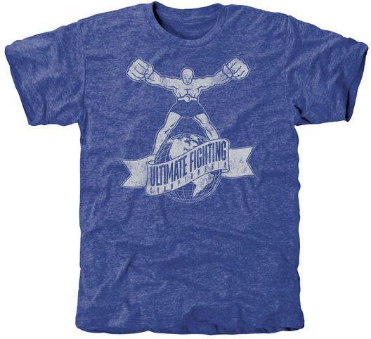 Ultimate Fighting Championship Old UFC Tri-Blend T-Shirt MMA Mens XL Royal Blue #Fanatics