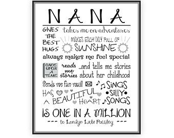 Nana poems Happy birthday pictures