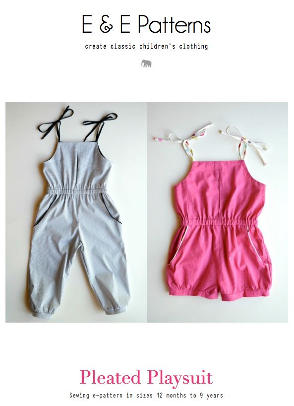 Comfortable, casual, yet sophisticated, one-piece playsuit in either shorts or ankle-length. Its shoulder ties and elasticized...