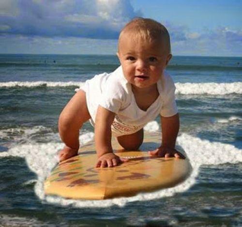 детские фотографии   Babies   Surfing, Retro surf и ...