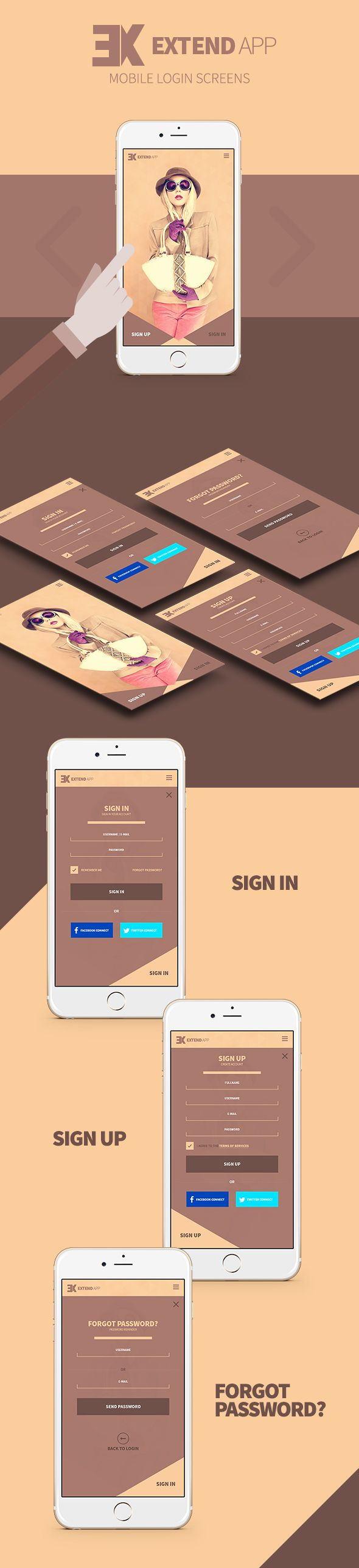 Extend - Mobile Screen on Behance