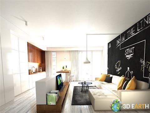 sitting room kitchen livingroom