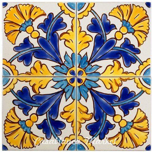 Mediterranean Gibraltar Ceramic Tile 4x4 Home Kitchen