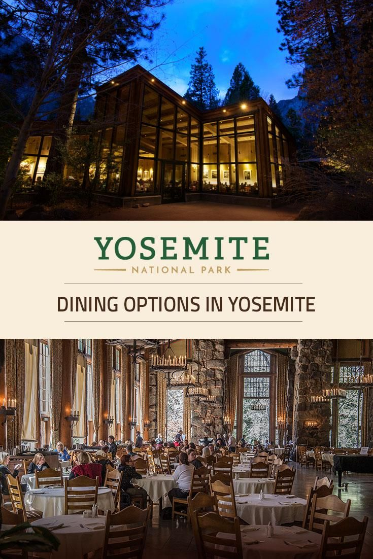 Yosemite National Park offers a wide variety of restaurants to satisfy every palate. Most restaurants are open all year, and many offer outdoor seating during the warmer months.