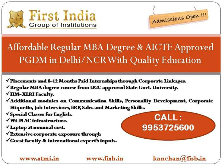 Best MBA /PGDM option in Delhi NCR http:// www.fisb.in
