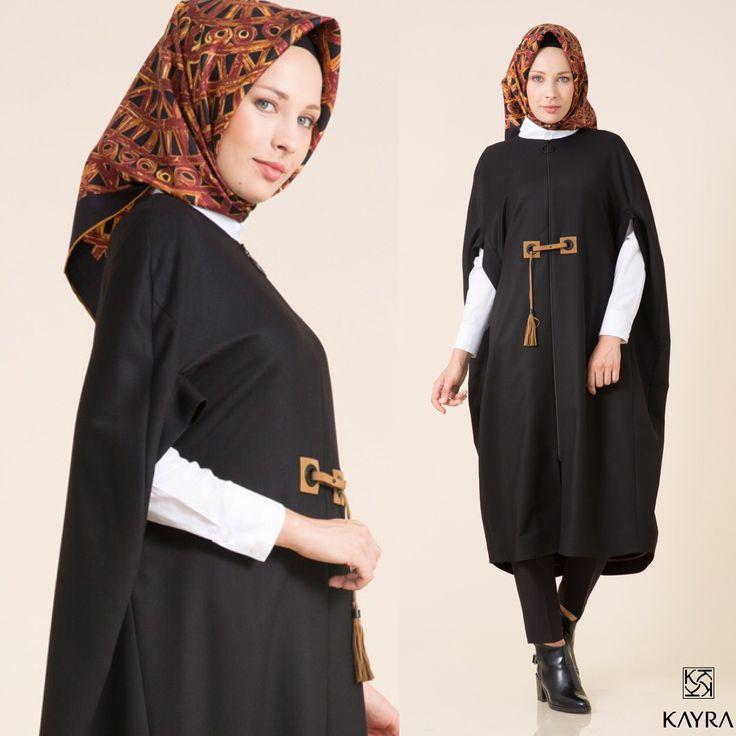 #Bayram için #ipek eşarbın ve #giyçık kombinin Kayra.com.tr de keşfetmeni bekliyor. ⚫️ Your #eid #outfit is waiting to be discovered.  Hemen tıkla   Follow the link > http://www.kayra.com.tr/p/9899/kayra-kisa-giy-cik-siyah-a6-25024