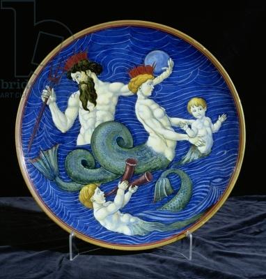 Ceramic charger with crowned triton, mermaid and mermen by William de Morgan (1839–1917) | © de Morgan Centre, London