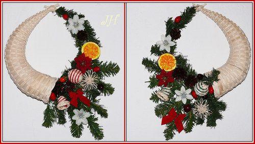 Vánoční roh hojnosti na dveře