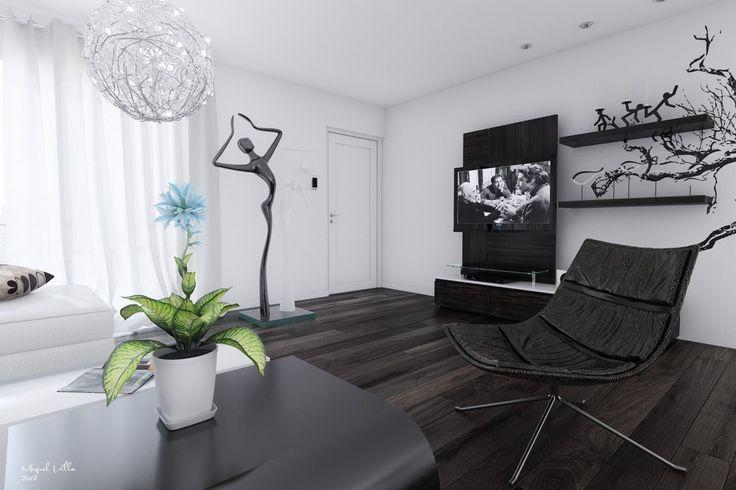 الديكور الأبيض والأسود,2-Black-and-white-living-room,