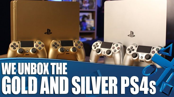 Silver and Gold PS4 Unboxing
