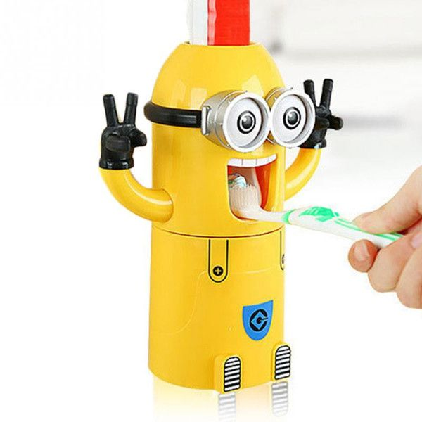Despicable Me Toothbrush Holder Automatic Toothpaste Dispenser Mount Minions - Mopixie Toys  - 7