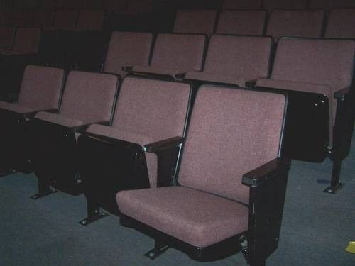 Movie Theater Seats Seating 4 In A Section Padded Flip Up Furniture I Wish