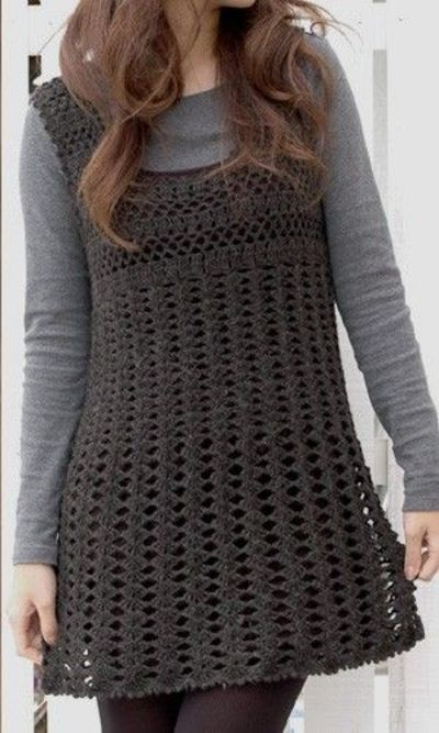 Crochet dress - free pattern - Japanese site, but a diagram pattern in Pdf form.  |   http://item.rakuten.co.jp/gosyo/29-210-60/