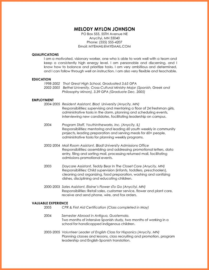 The  Best Resume For Graduate School Ideas On
