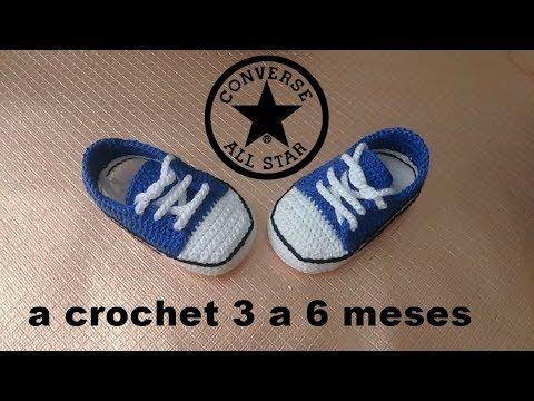 Mocasines para bebé a crochet (Mocasins Booties) - YouTube